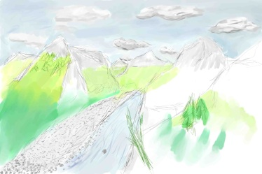 mountains-sketch