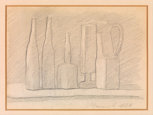 Still Life by Giorgio Morandi, here: http://www.metmuseum.org/art/collection/search/687854