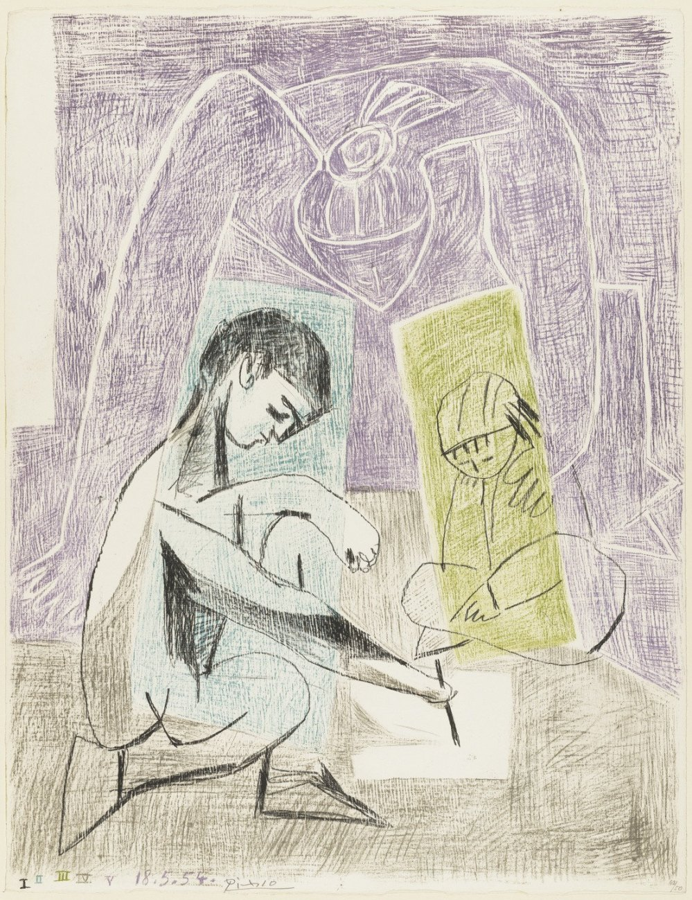 Little Artist, Picasso 1954