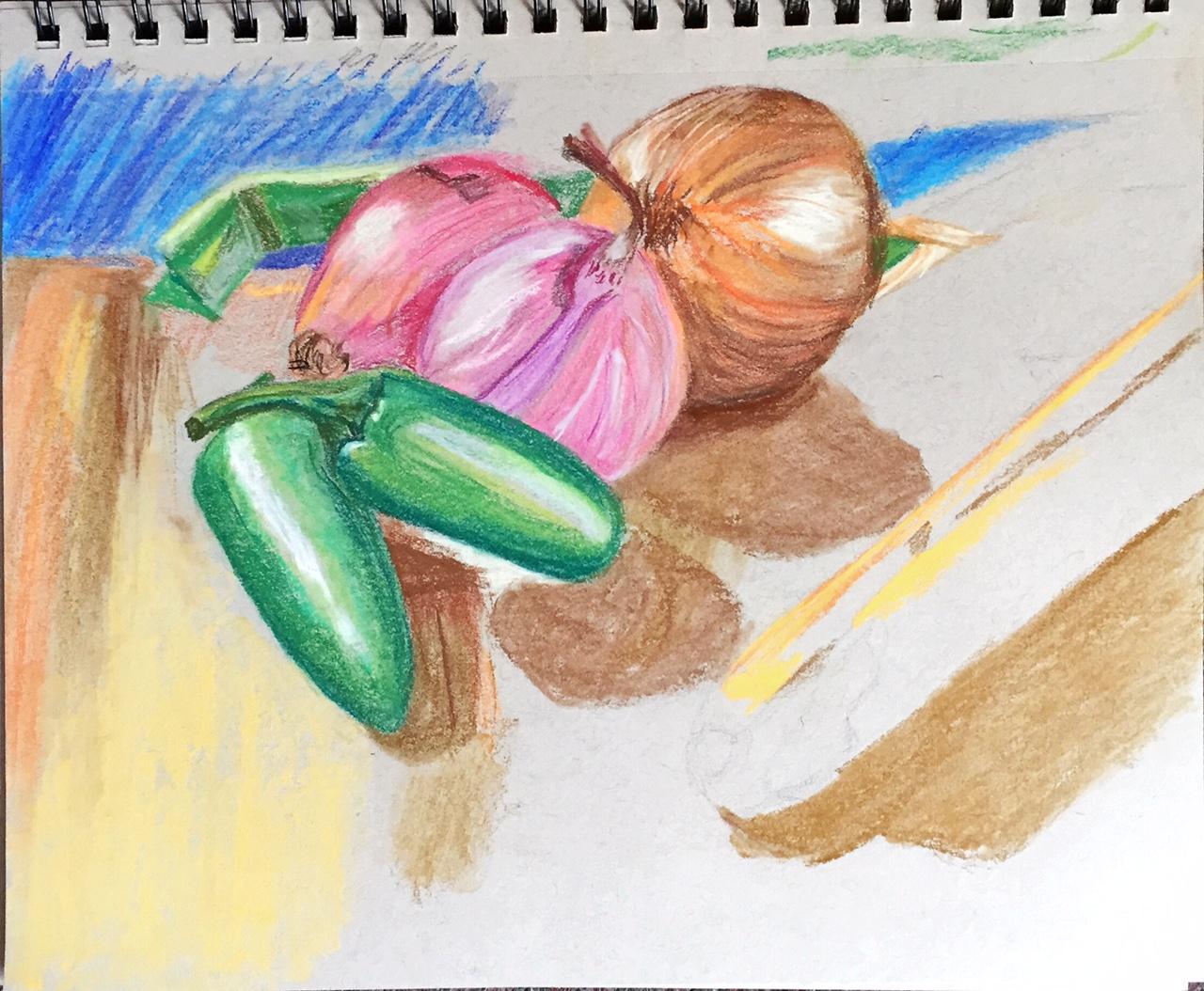25 Sketch in colour