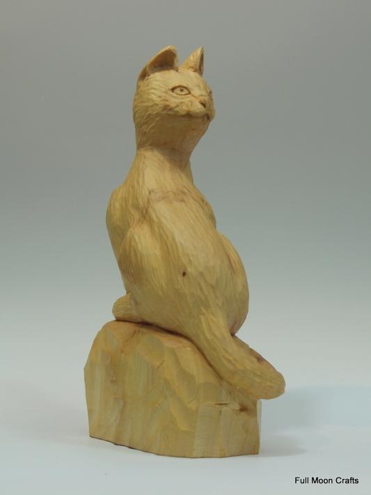 Curious cat (wood)-005