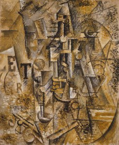 https://en.wikipedia.org/wiki/Pablo_Picasso#/media/File:Pablo_Picasso,_1911,_Still_Life_with_a_Bottle_of_Rum,_oil_on_canvas,_61.3_x_50.5_cm,_Metropolitan_Museum_of_Art,_New_York.jpg
