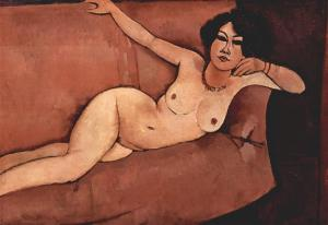 Nude on sofa (Almaisa)