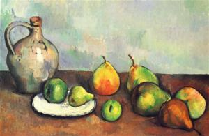 Still life, pitcher and fruit Paul Cezanne