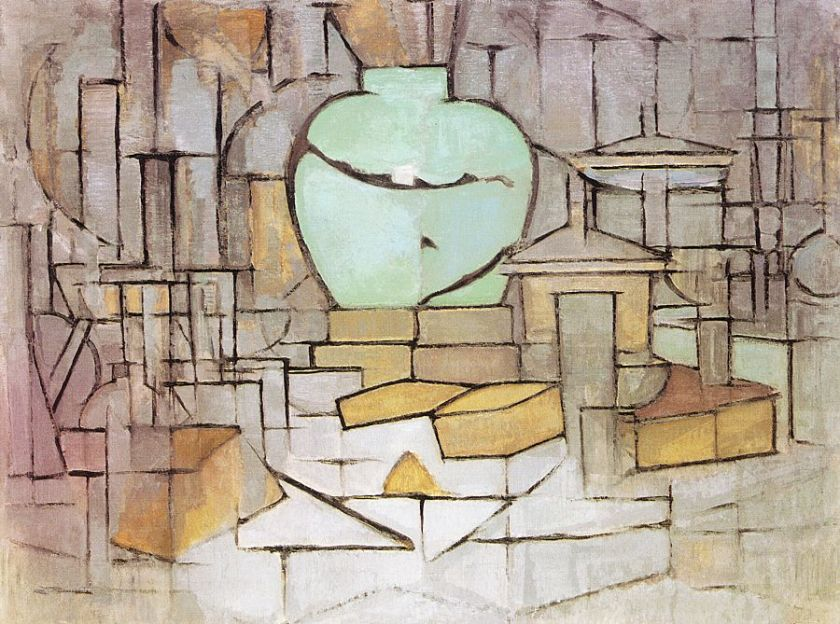 Still Life with Gingerpot 2, by Piet Mondrian