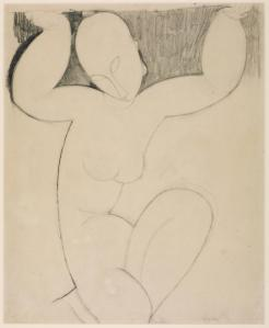 Caryatid c.1913-4 by Amedeo Modigliani 1884-1920