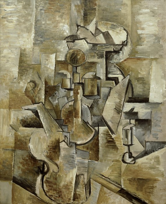 Georges Braque (1882–1963), Violin and Candlestick (1910)