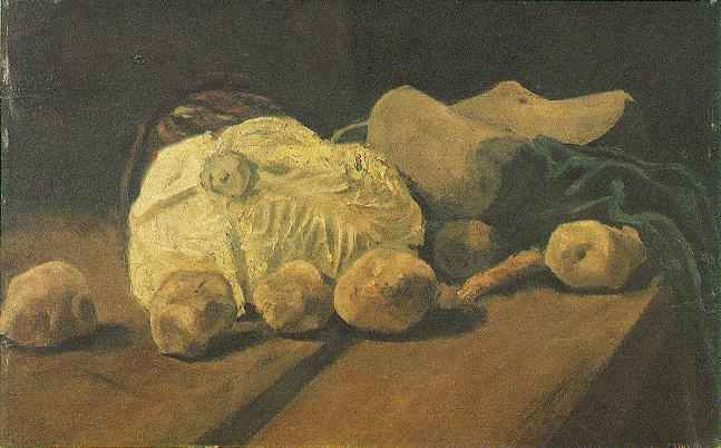 Still Life with Cabbage and Clogs, Vincent van Gogh