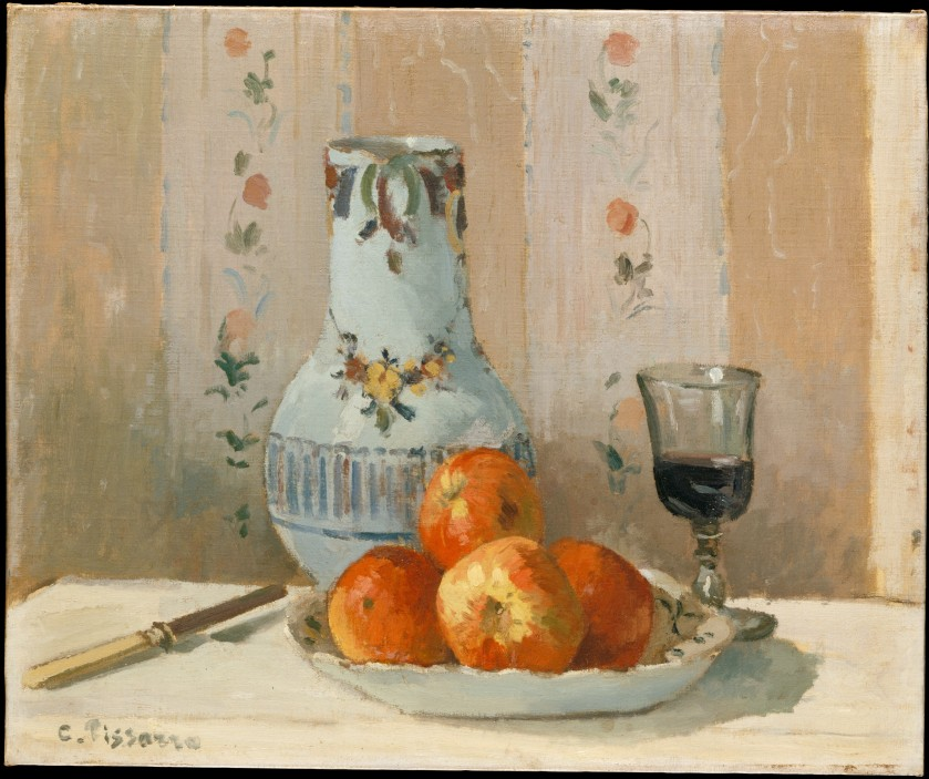 Still Life with Apples and Pitcher, Camille Pissarro (1872)