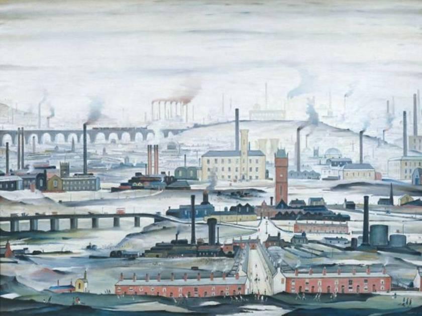 L.S Lowry Industrial Landscape 1955